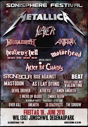 """""""Live live live"""" Sonisphere"""