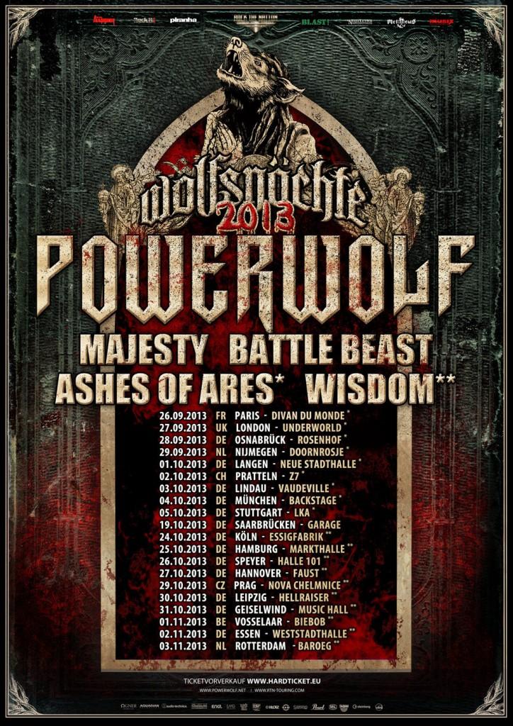 POWERWOLF Powerwolf-Wolfsnächte-Tour-2013_Webflyer-724x1024