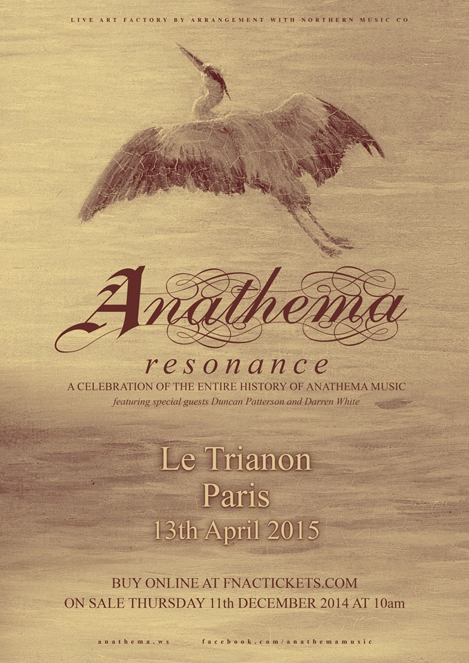 Anathema - Resonance Tour Paris 2015
