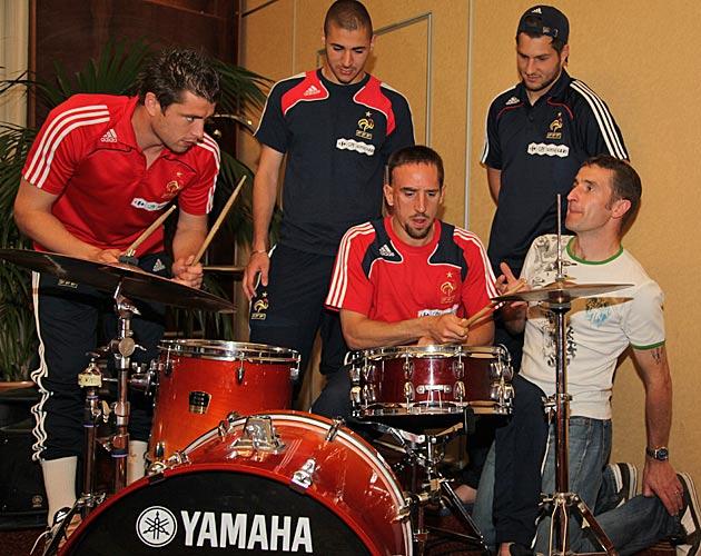 Philippe Jeoffroy et l'équipe de France de foot