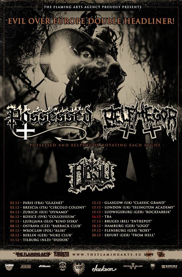 Possessed + Belphegor tour