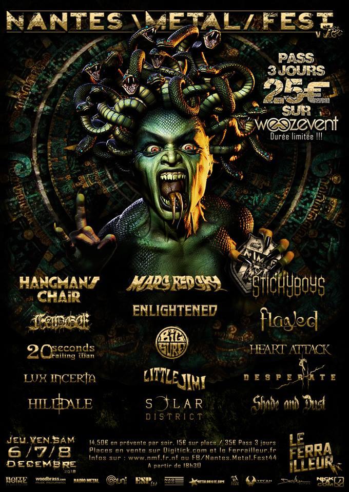 L'affiche du Nantes Metal Fest 2018 est connue