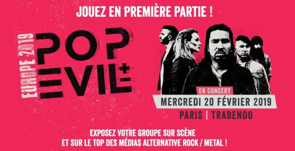 CONCOURS POP EVIL : JOUEZ EN PREMIÈRE PARTIE À PARIS !