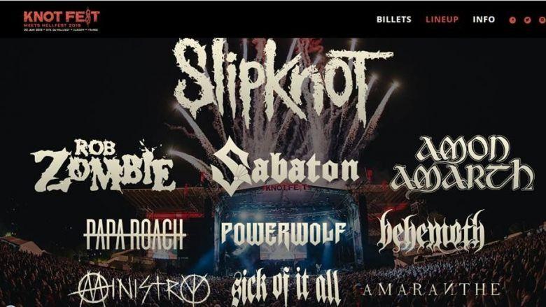 Le site du Hellfest accueillera le Knotfest de SLIPKNOT