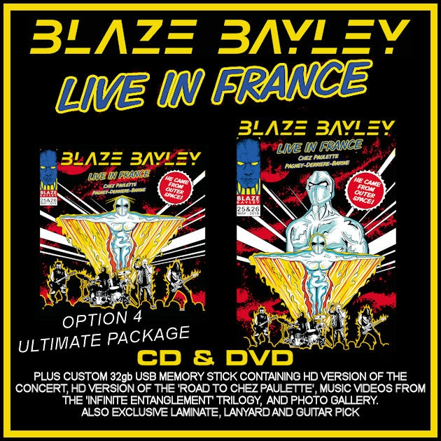BLAZE BAYLEY : les détails du nouvel album live Live In France