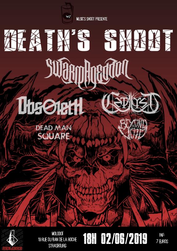 L'association Music's Shoot (Strasbourg) dévoile sa première affiche death metal