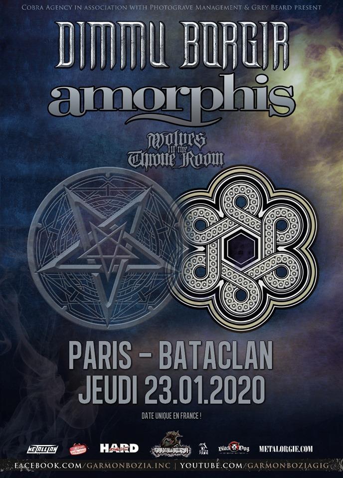 DIMMU BORGIR de passage à Paris en janvier avec AMORPHIS et WOLVES IN THE THRONE ROOM