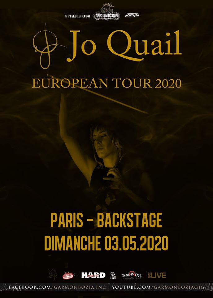 JO QUAIL de passage à Paris en mai