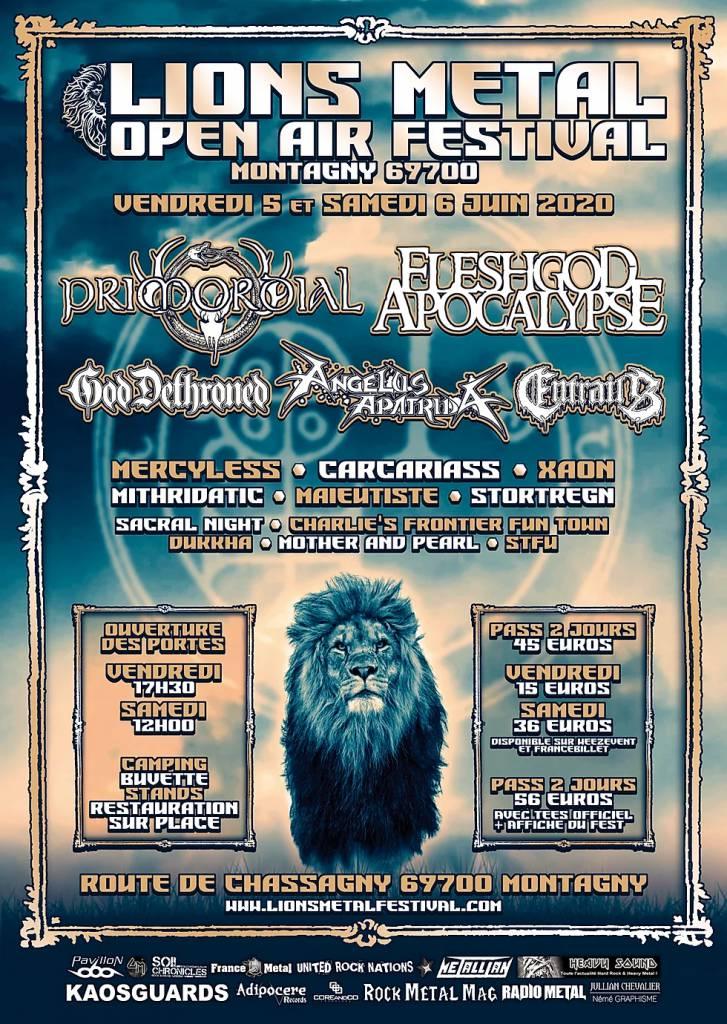 L'affiche complète du Lions Metal Festival 2020 est connue