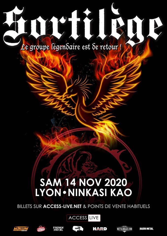 SORTILEGE de passage à Lyon en novembre 2020