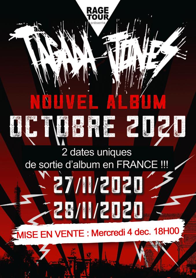 TAGADA JONES prépare un nouvel album pour 2020 ; deux concerts à Paris annoncés