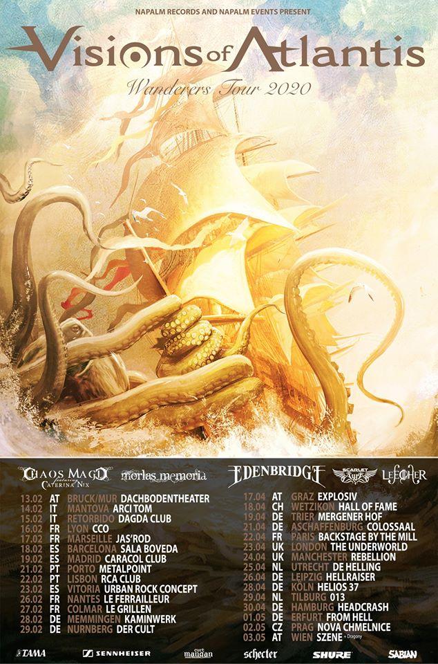 VISIONS OF ATLANTIS annonce de nouvelles dates en France avec CATERINA NIX et MORLAS MEMORIA
