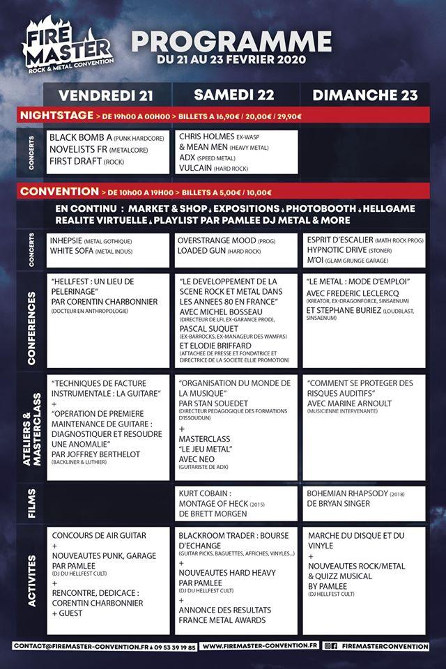 Firemaster Convention : une convention rock et metal à Châteauroux en février