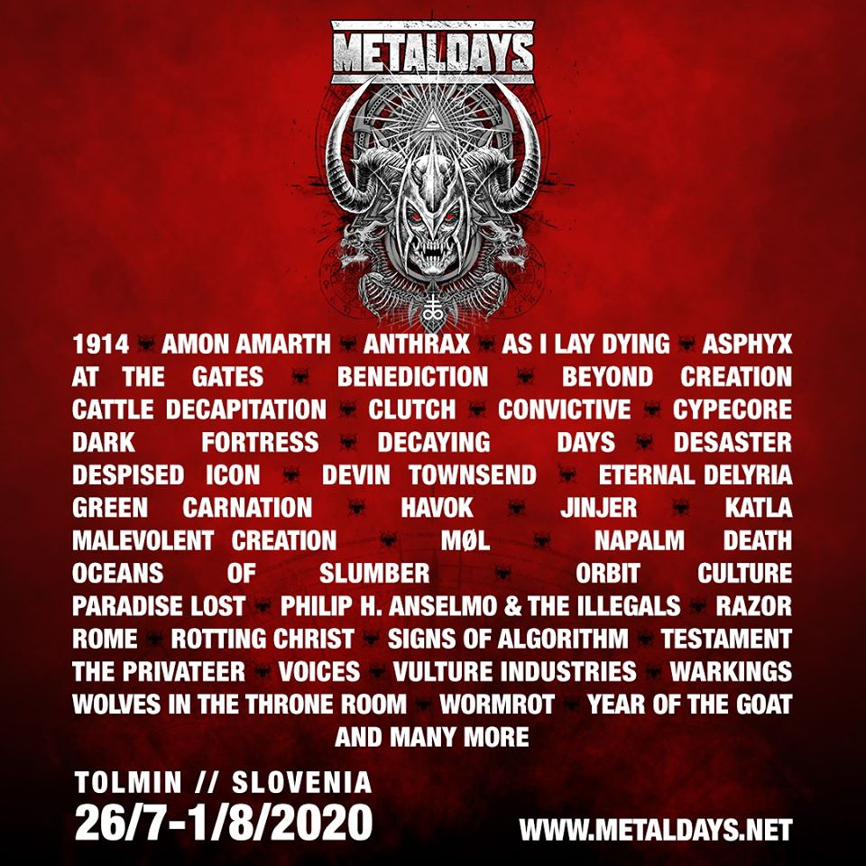 Affiche MetalDays 2020