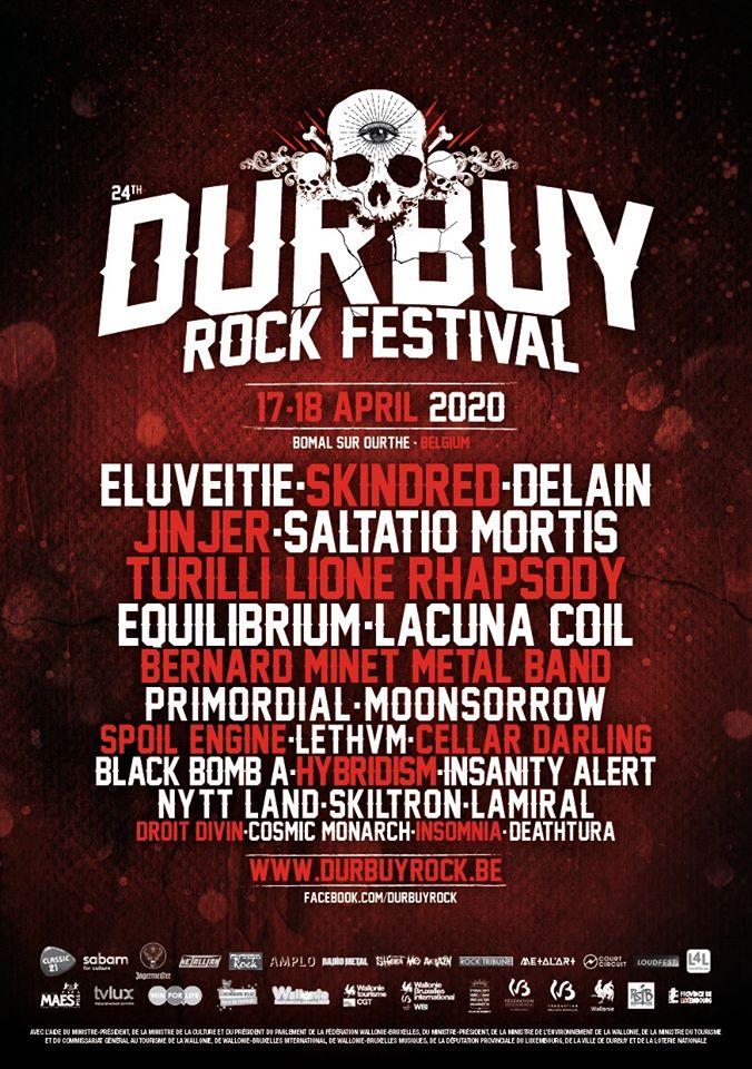 EQUILIBRIUM annoncé au Durbuy Rock Festival 2020 ; le line-up complet est désormais connu