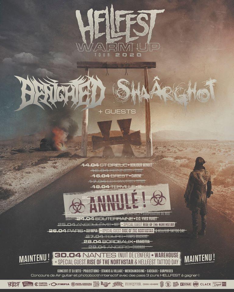 hellfest warm up annulation