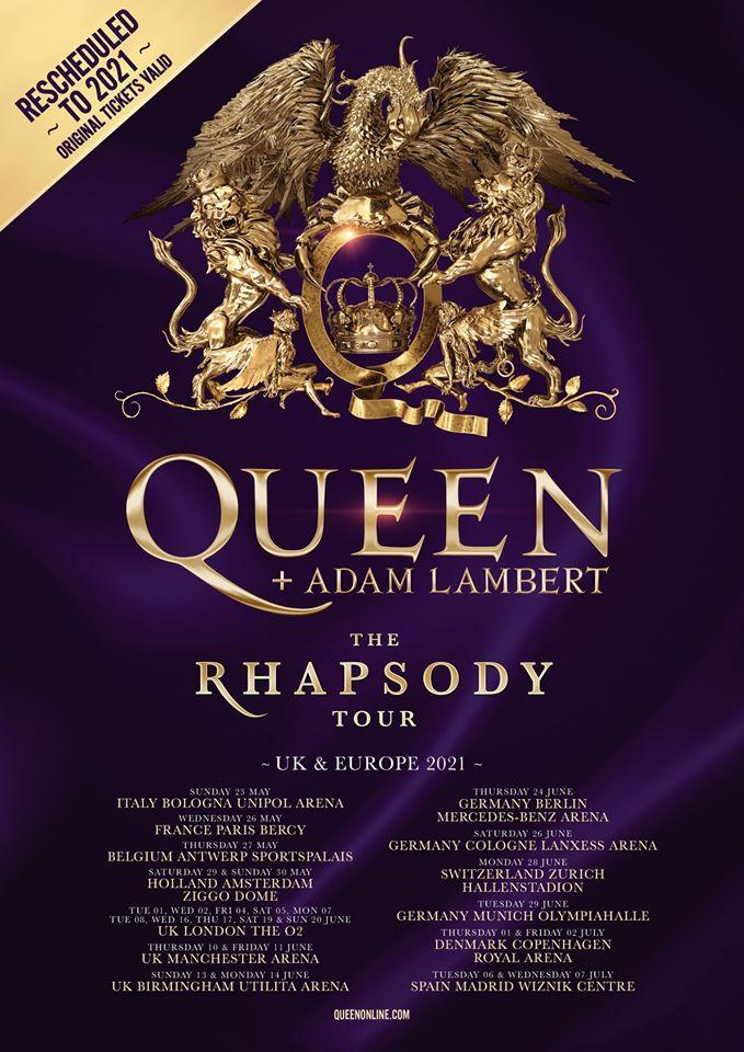 QUEEN + Adam Lambert de passage à Paris en mai 2021