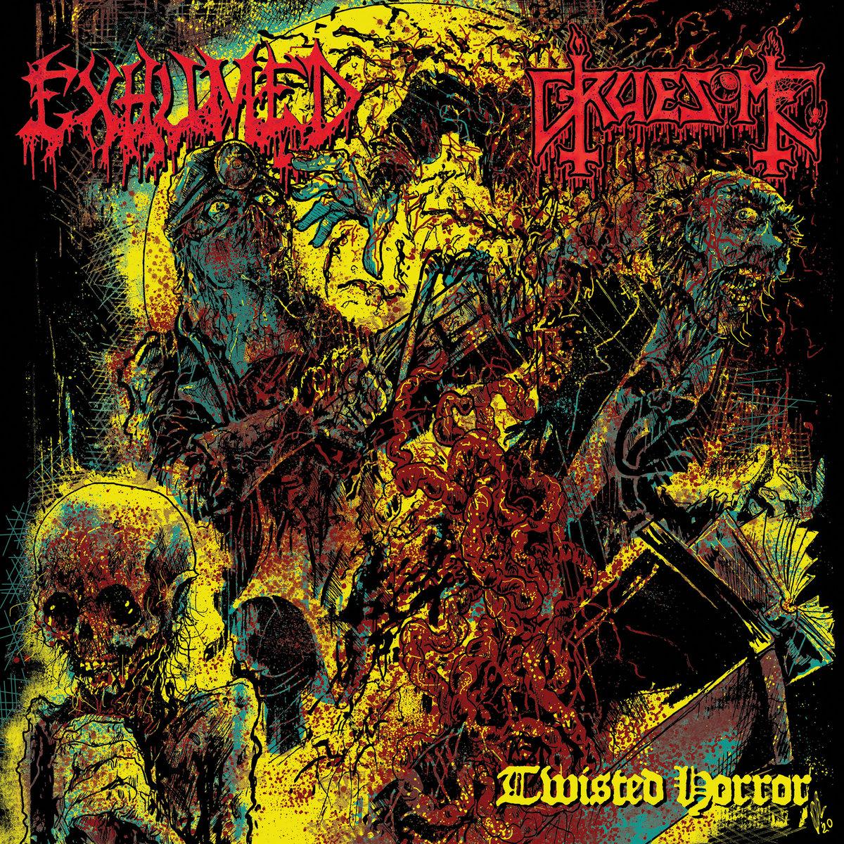 EXHUMED / GRUESOME : les détails du nouveau split album Twisted Horror ; chanson «A Mind Decayed» dévoilée