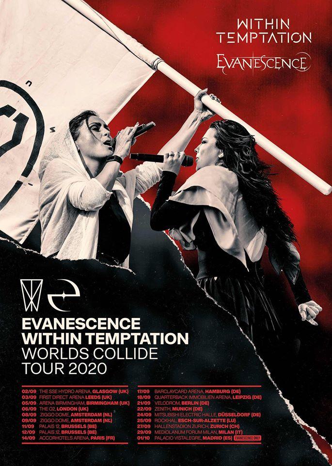 WITHIN TEMPTATION et EVANESCENCE de passage à Paris en septembre