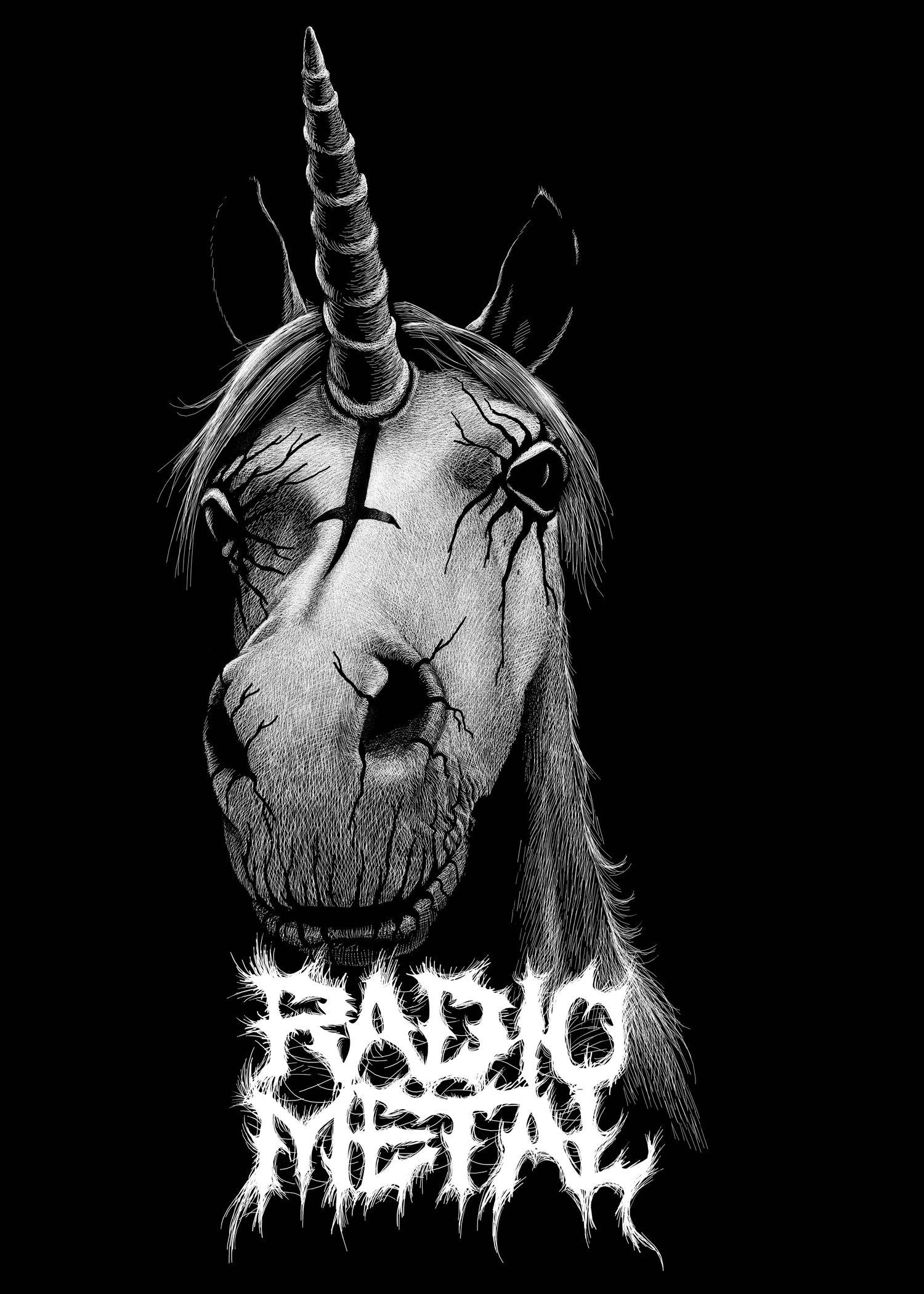 illustration art shirt radio metal licorne unicorn Will Argunas