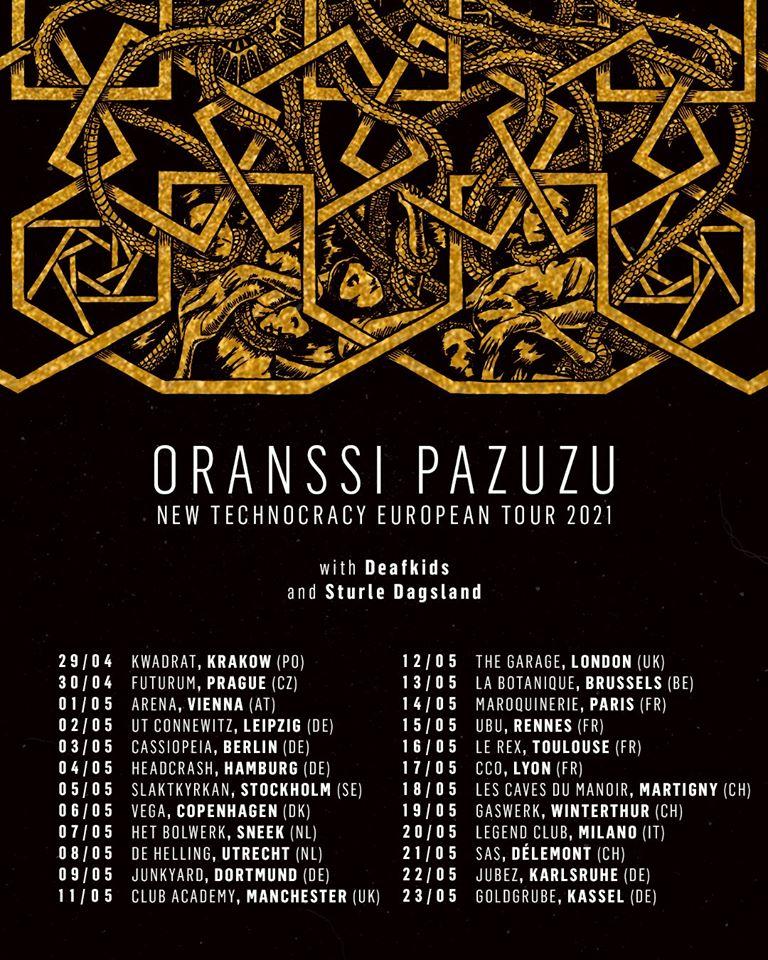 ORANSSI PAZUZU : la tournée européenne reportée au printemps 2021