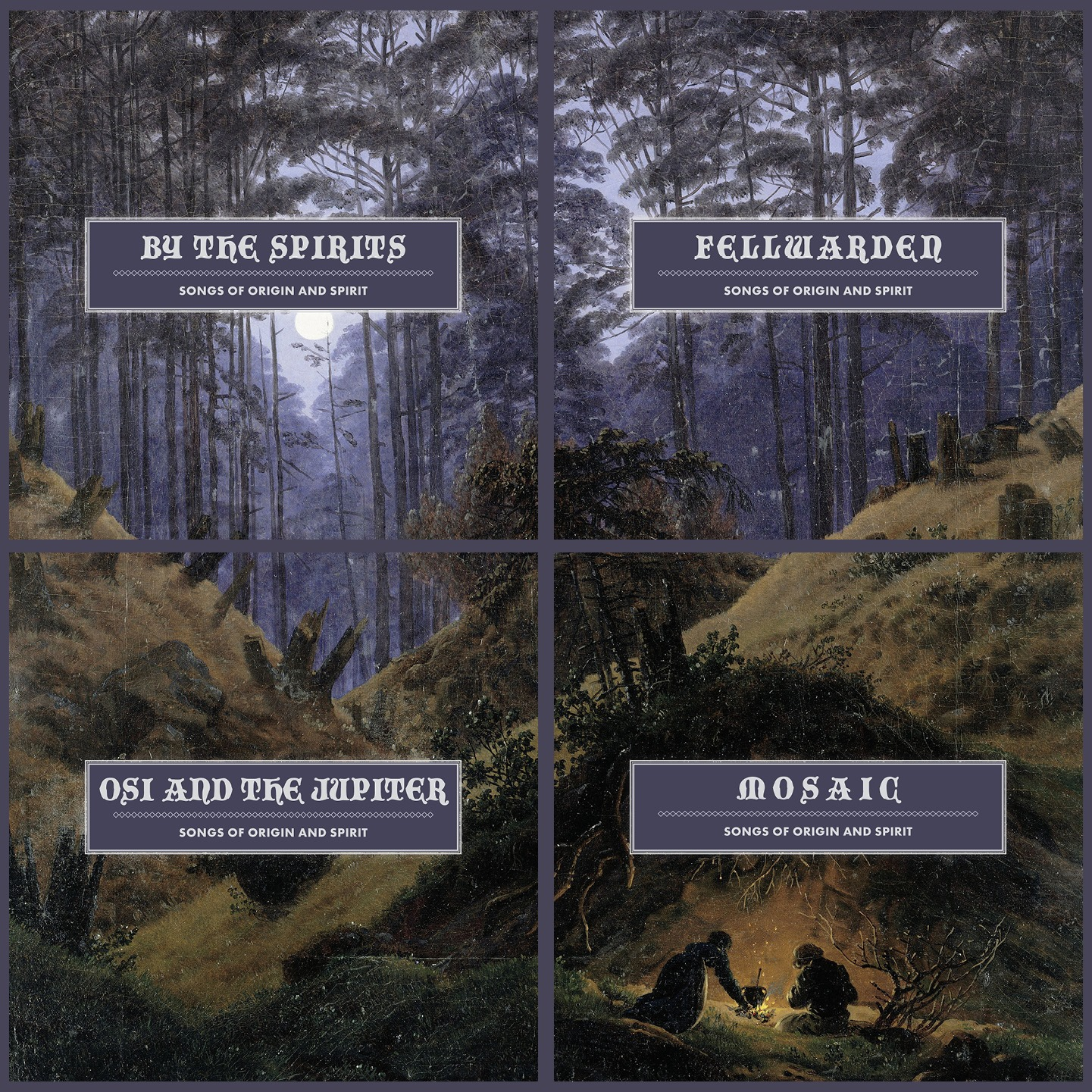 BY THE SPIRITS, OSI AND THE JUPITER, MOSAIC et FELLWARDEN : l'album collaboratif Songs Of Origin And Spirit en écoute intégrale