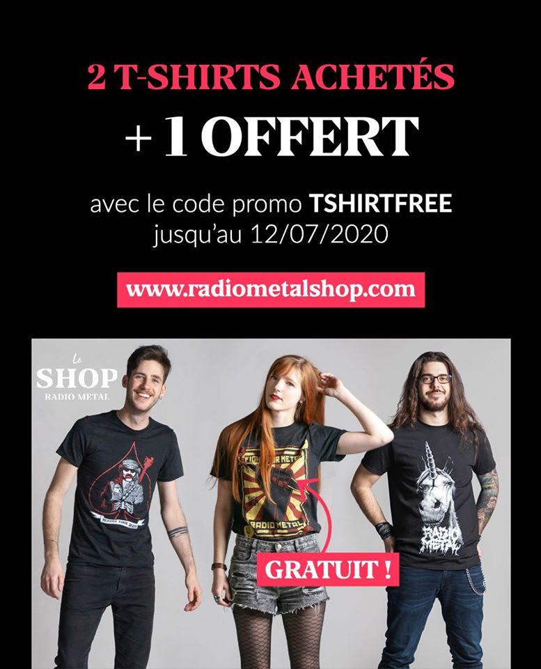 Boutique RM : un T-Shirt offert pour deux T-Shirts commandés !