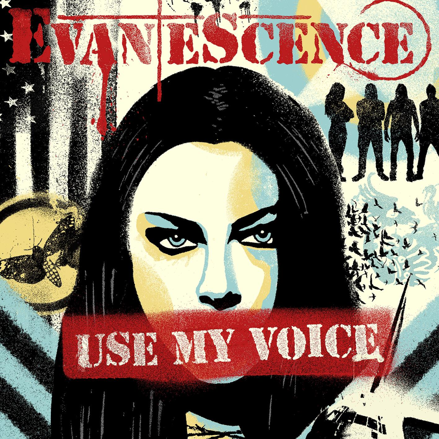 evanescence use my voice cover art