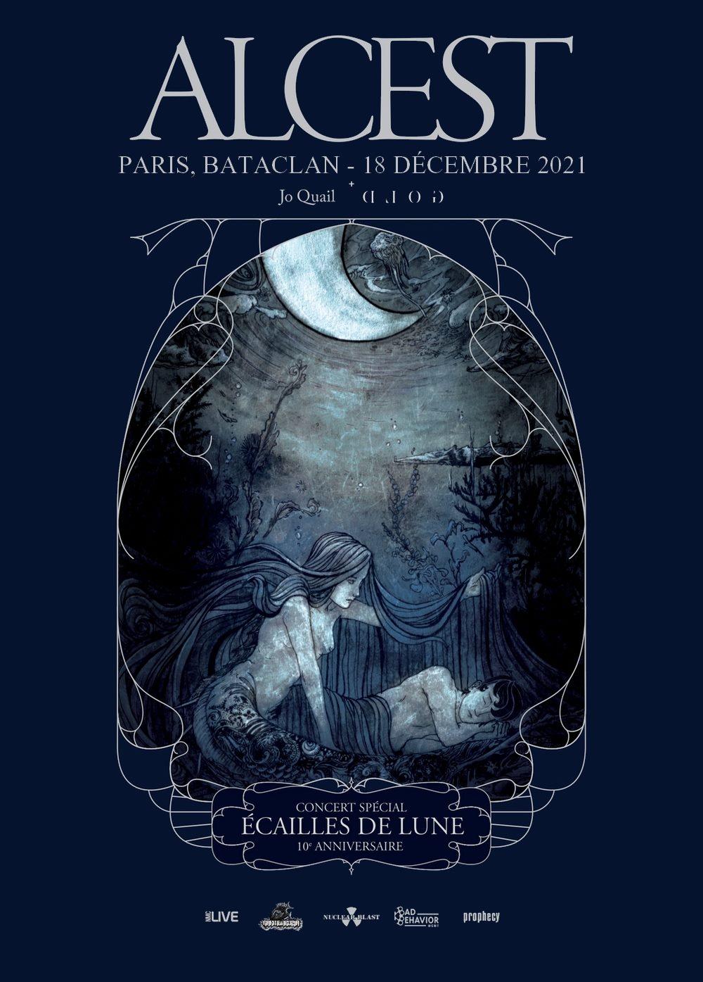 ALCEST : le concert anniversaire de l'album Écailles De Lune à Paris reporté en décembre 2021