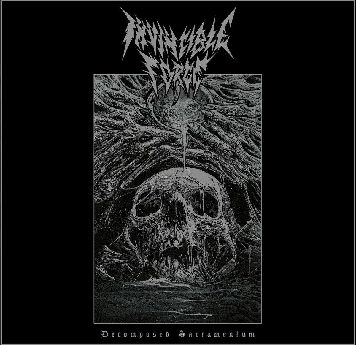 INVINCIBLE FORCE decomposed sacramentum cover artwork