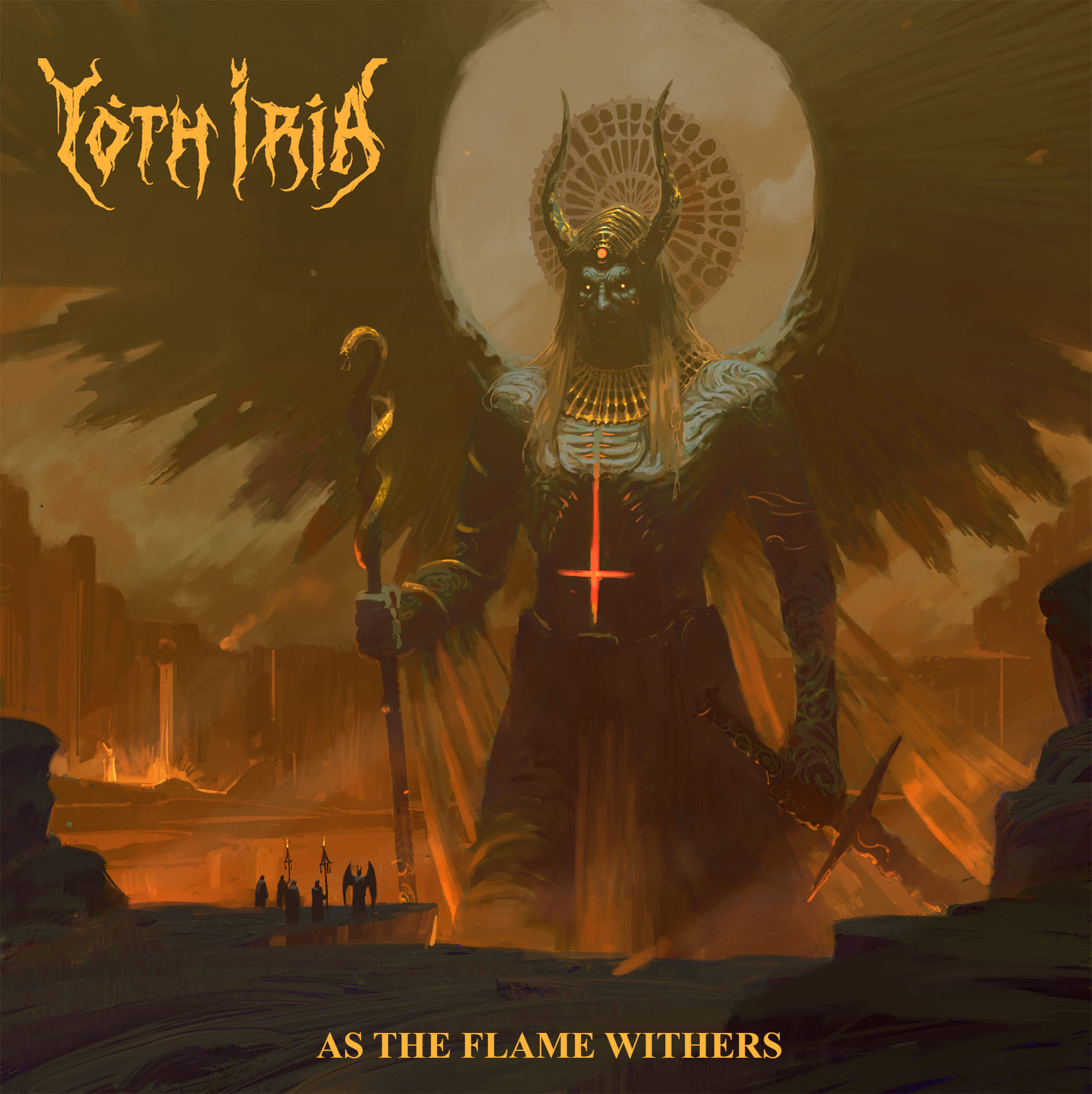 yoth iria as the flame withers cover art