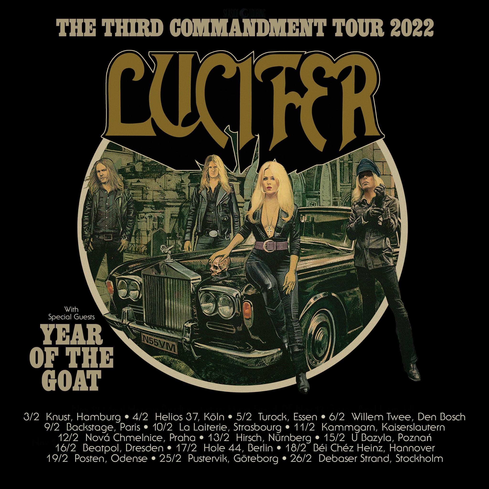 LUCIFER et YEAR OF THE GOAT : la tournée européenne reportée à 2022
