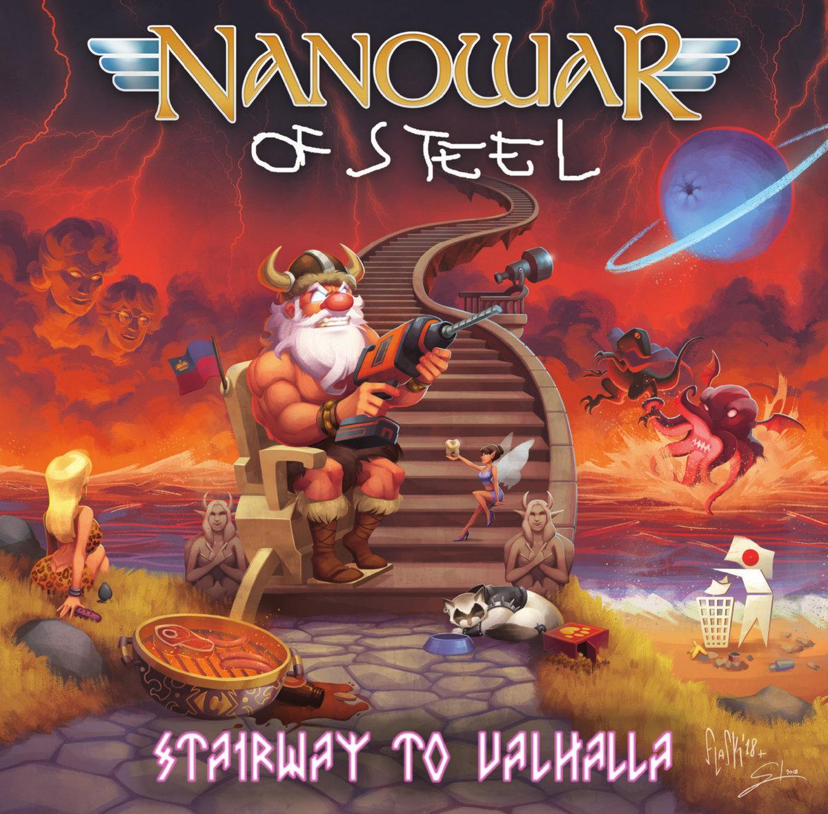 Stairway To Valhalla Nanowar Of Steel Album Cover Artwork