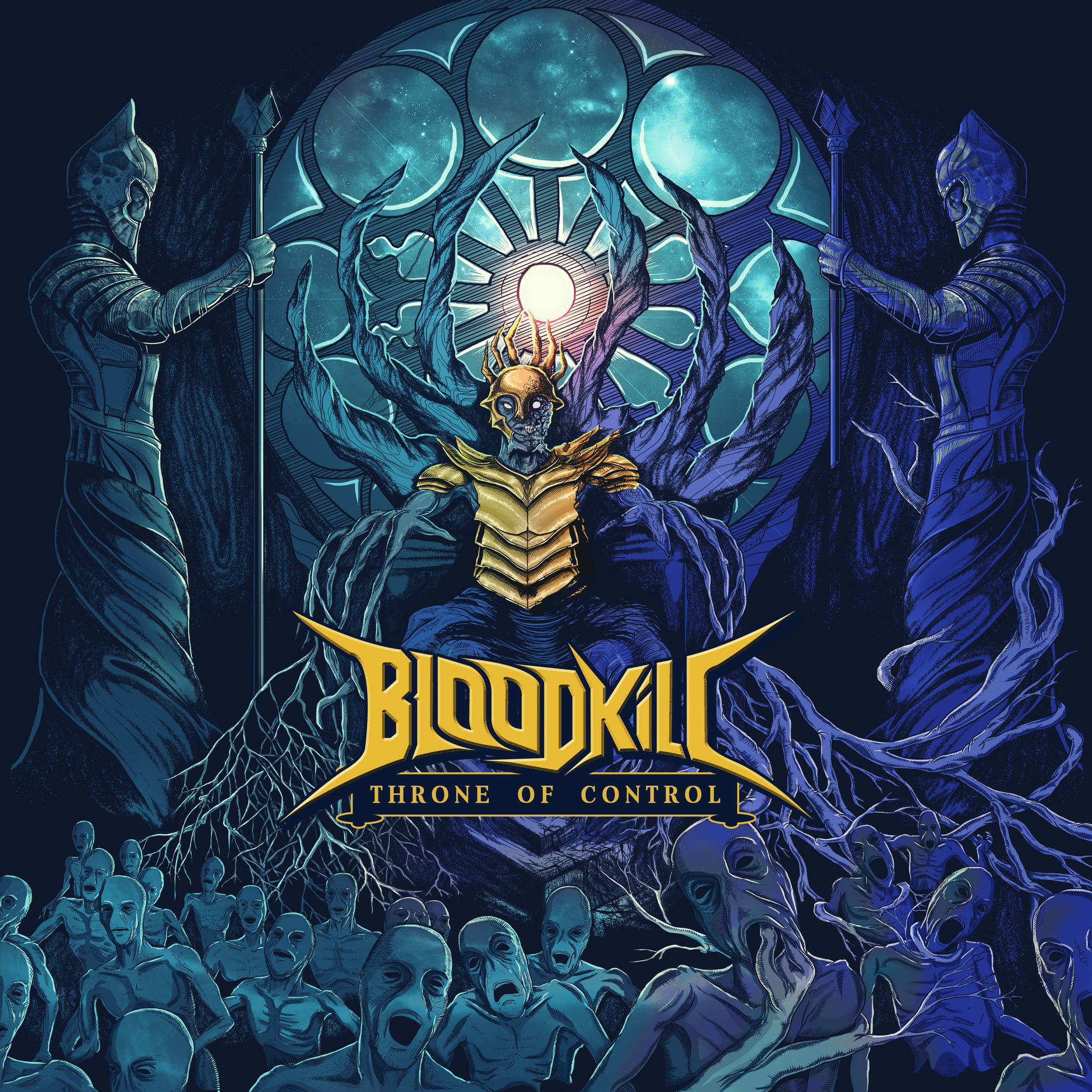 bloodkill throne of control album cover artwork gaurav basu acid toad