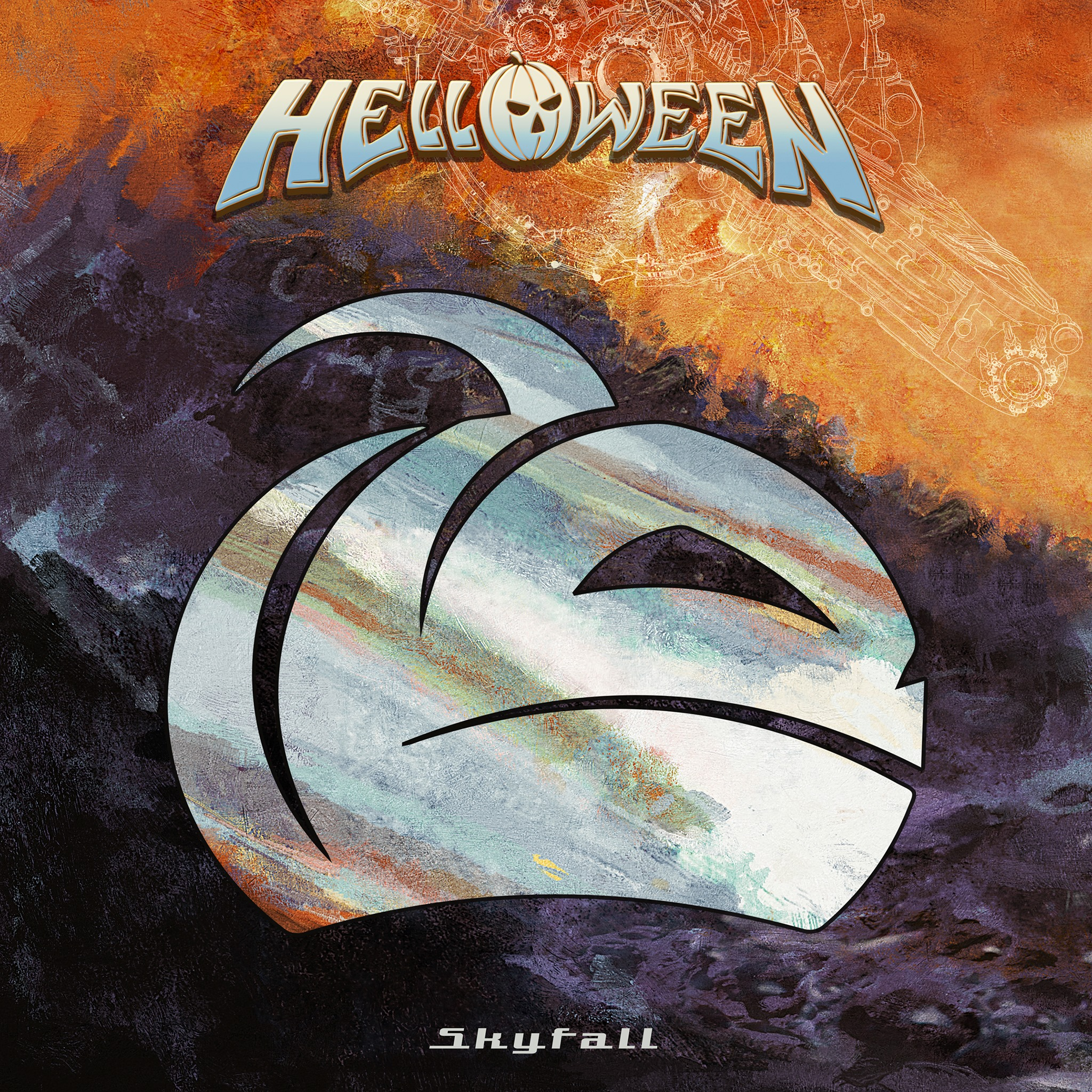 helloween skyfall album cover artwork