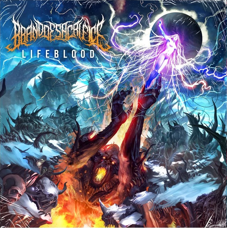 lifeblood brand of sacrifice album cover artwork