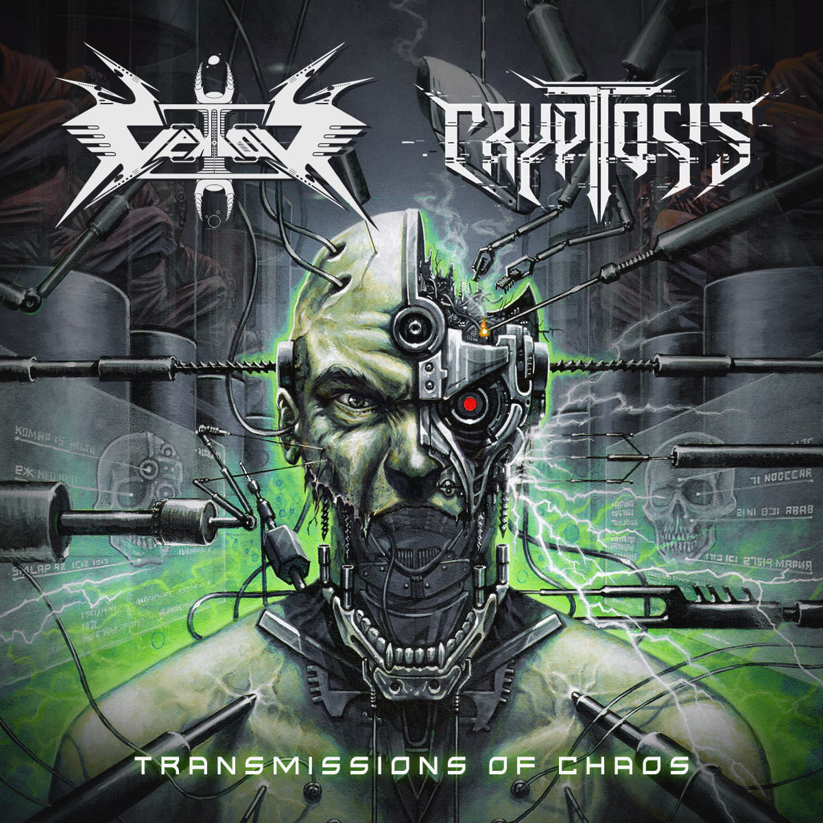 vektor cryptosis transmissions of chaos album ep cover artwork