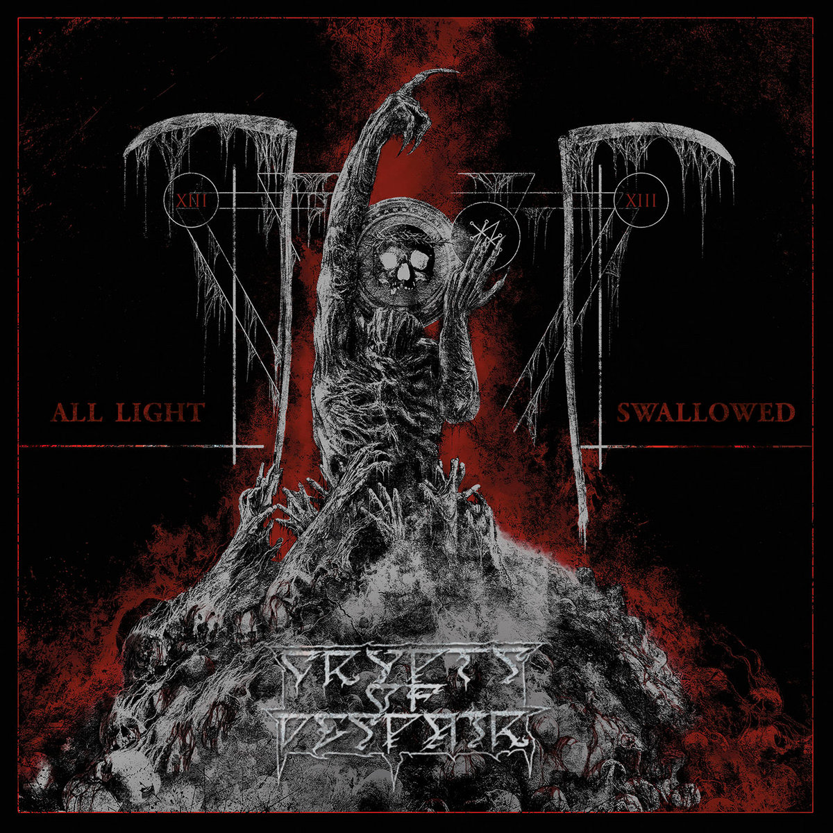 All Light Swallowed CRYPTS OF DESPAIR Album Cover Artwork Nestor Avalos