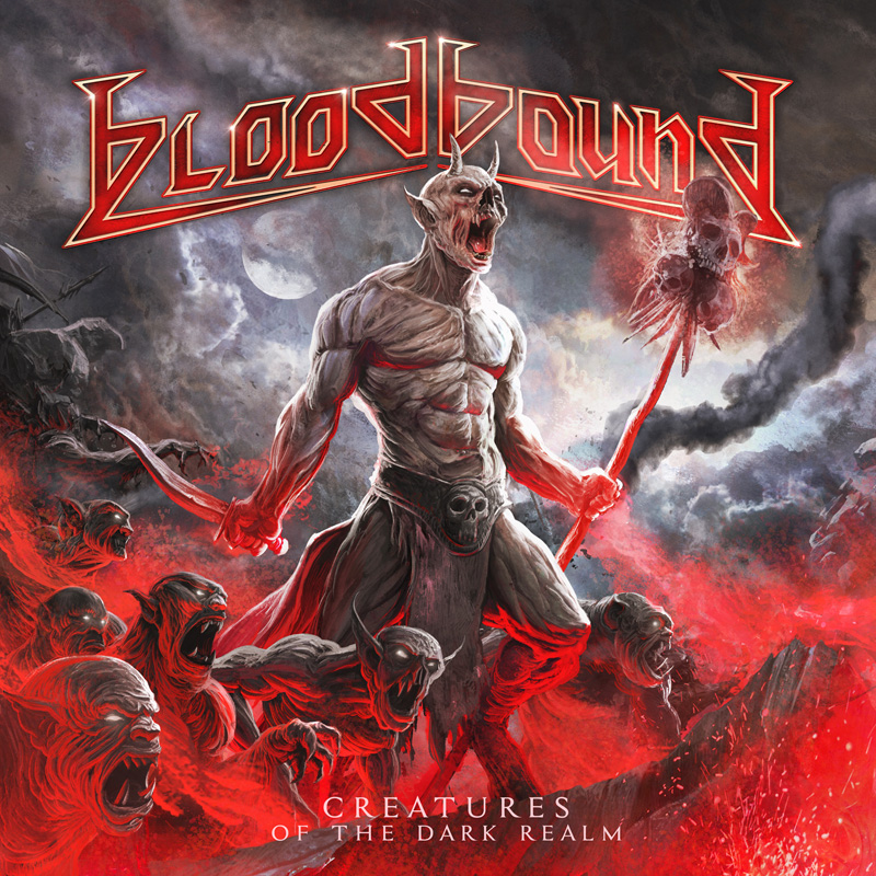BLOODBOUND Creatures Of The Dark Realm Album Cover Artwork