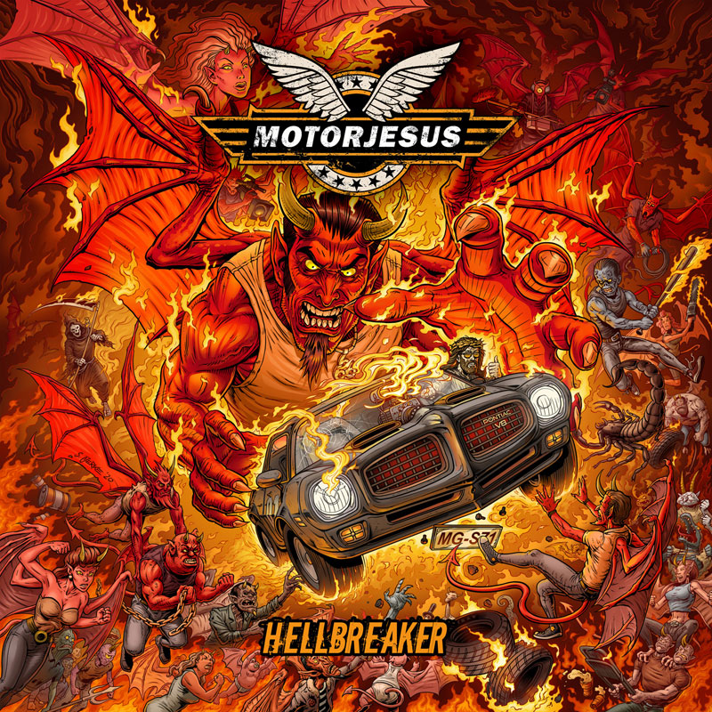 Motorjesus Hellbreaker Album Cover Artwork