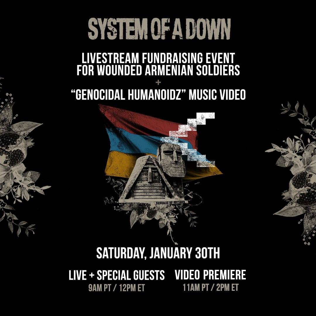 system of a down livestream