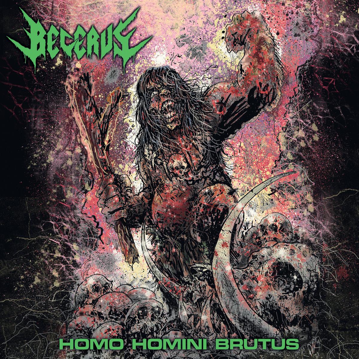 Becerus Homo Homini Brutus Album Cover Artwork