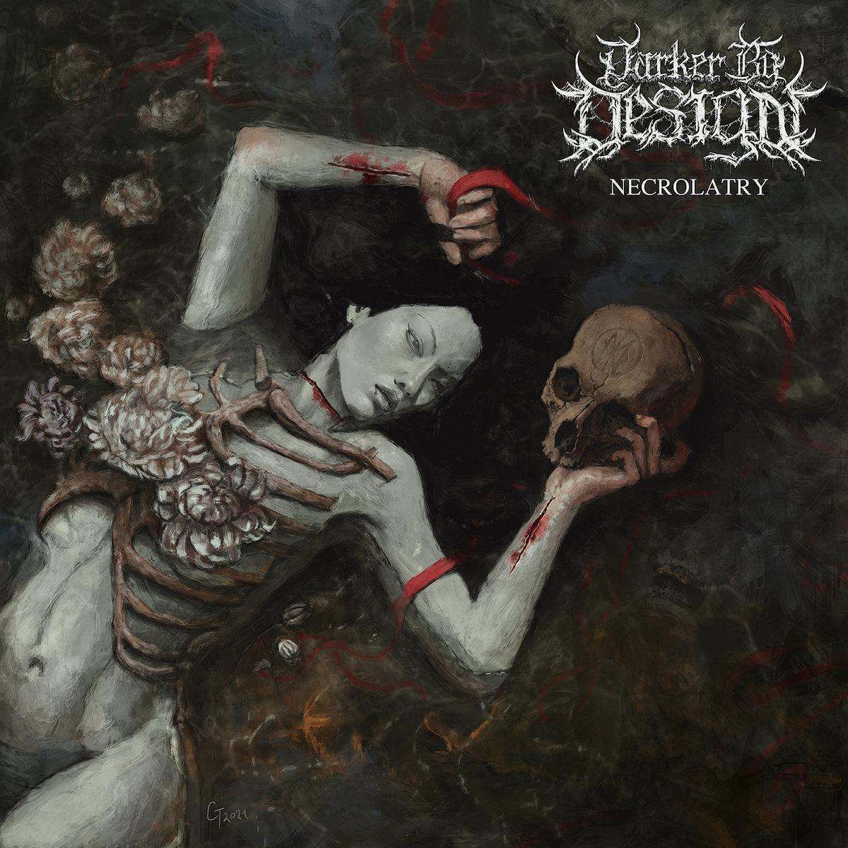 Darker By Design Necrolatry Album Cover Artwork