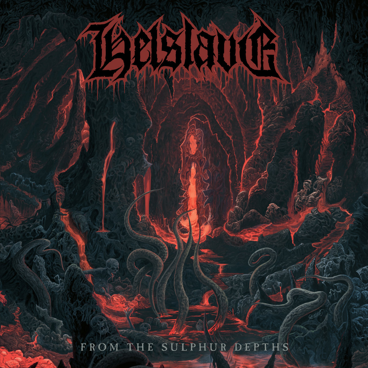 From The Sulphur Depths Helslave Album Cover Artwork