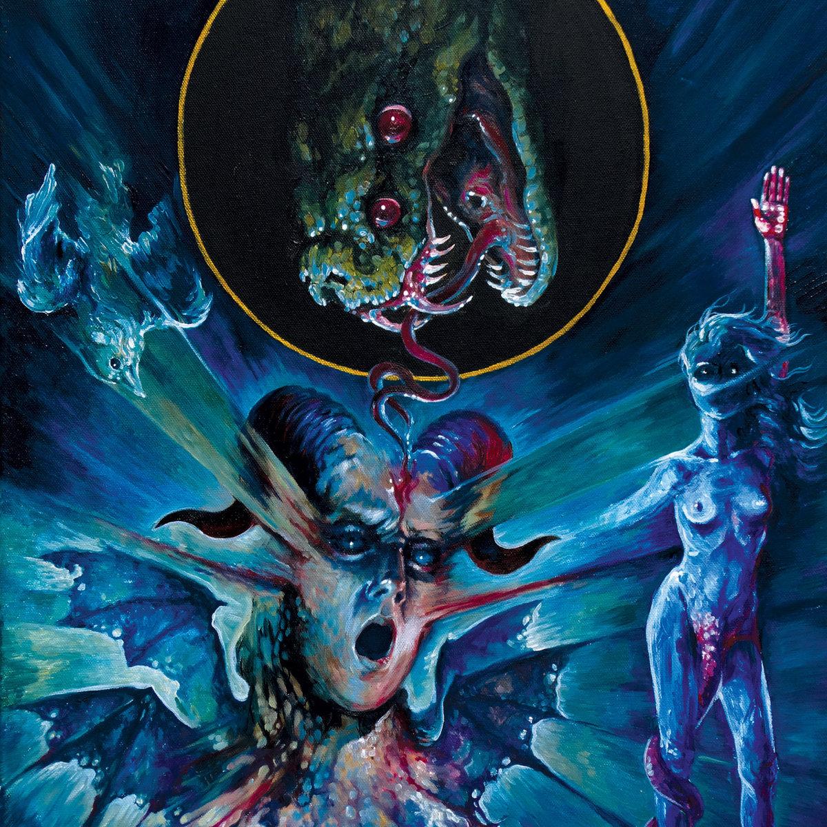 Dy'th Requiem For The Serpent Telepath Esocthrilihum Album Cover Artwork