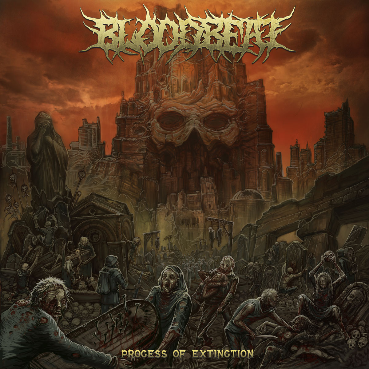 Bloodbeat Process of Extinction Album Cover Artwork