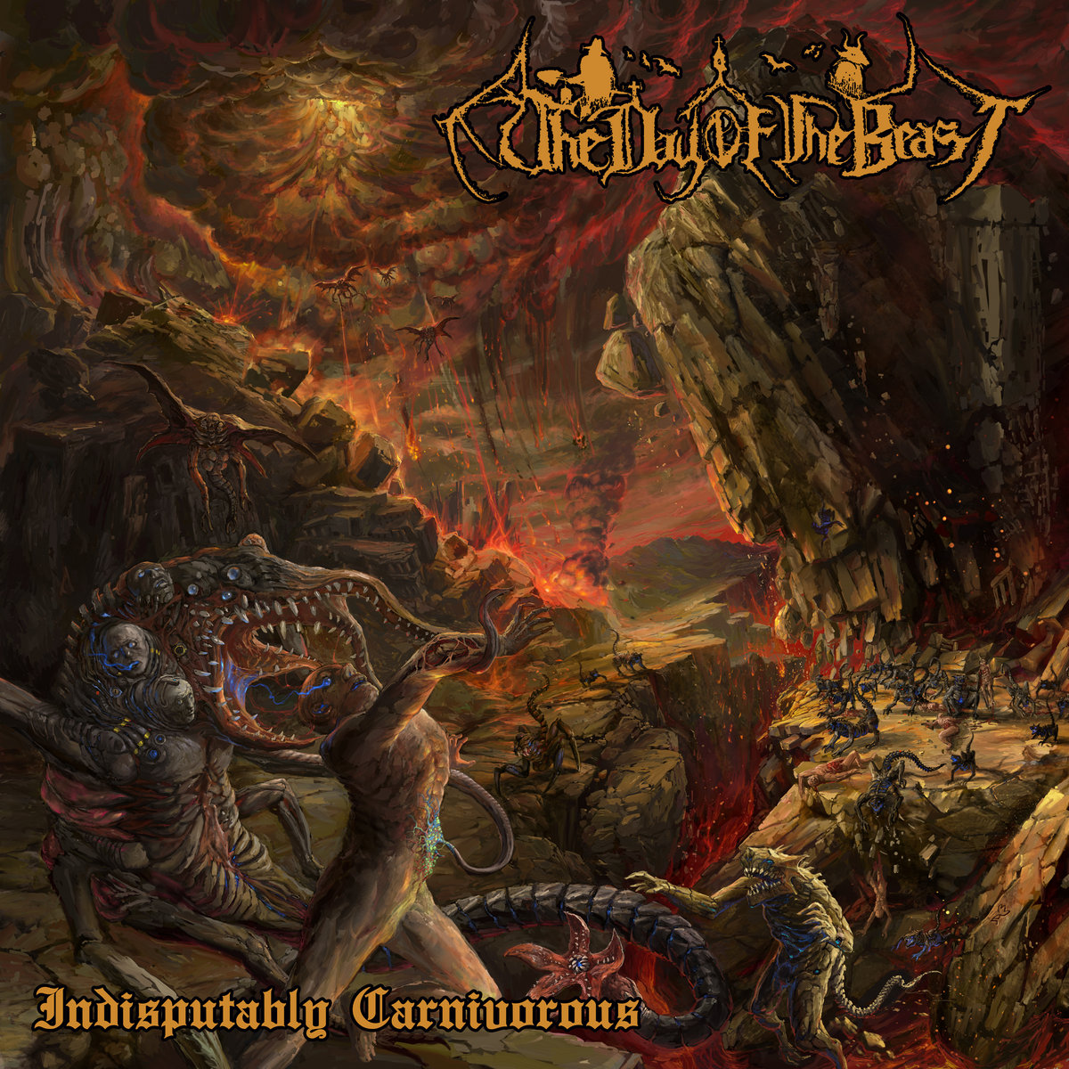 The Day Of The Beast Indisputably Carnivorous Album Cover Artwork