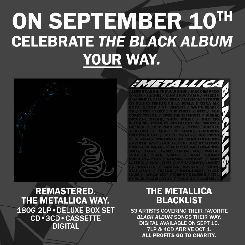 metallica black album remaster